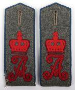 Matched Pair of WW1 German Konigin Augusta Garde Grenadier Regiment Nr 4 M-15 Shoulder Straps