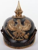 WW1 German Prussian Other Ranks Souvenired Pickelhaube
