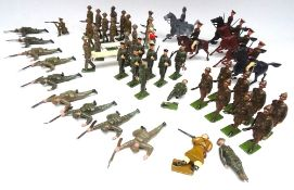 Britains hollowcast troops in khaki