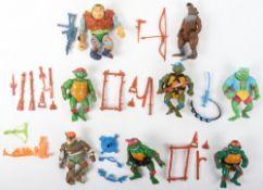 Vintage playmates 1980s Teenage Mutant Ninja turtles figures