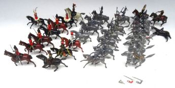 Britains assorted original castings and repainted Cavalry