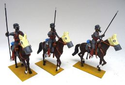 54mm scale Models: three WWI German Cavalry