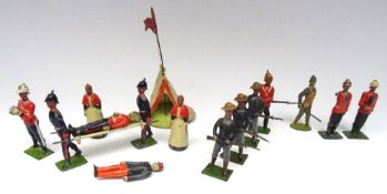 Britains, two Gunners from set 148, Royal Lancaster Regiment