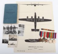 Royal Air Force Medal and Log Book Set of Navigator R White, Who Was Attacked by Japanese Fighter on