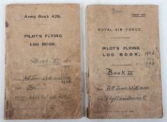 Important Pilot's Flying Log Books belonging to Captain Arthur Gordon Jones-Williams with Eleven Con