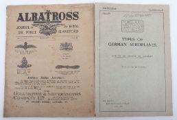 Types of German Aeroplanes Air Ministry July 1918