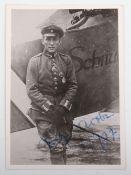 Original Signed Photograph of Vizefeldwebel Fritz John Jacobson