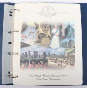 """An album of """"The Great Britain Luxury Silver Coin Cover Collection"""""""