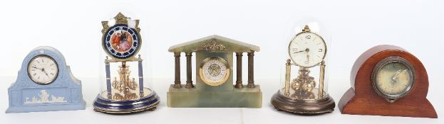 Five mantle clocks