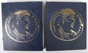 Two folders of Europe and world coinage