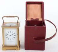 An early 20th century brass carriage clock, Jackman & Son Bath