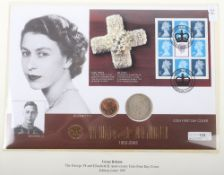 Queens Golden Jubilee, The George Vi and Elizabeth II Anniversary Coin First Day Cover