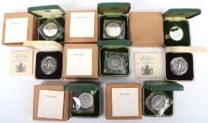 Two silver proof 80th Birthday crowns