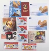 Selection of commemorative coins