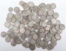 A selection of 1920-1946 Shillings, (118) and twenty sixpences
