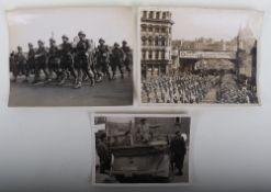 Three Original WWII Press Photographs
