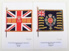 David J Hunter Regimental Colour of the 13th (1st Somersetshire) Prince Albert's Light Infantry) Reg