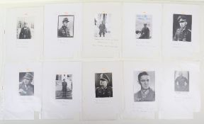Collection of Signed Photographs of Wehrmacht Knights Cross of Iron Cross Winners