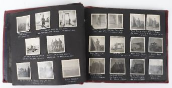 Comprehensive and Very Well Captioned, British Artillery Officer's Photograph Album, WWII Desert Cam