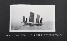 Chinese Lacquered Photograph Album Covering Cruise of HMS Cumberland (5th Cruiser Squadron China) 19
