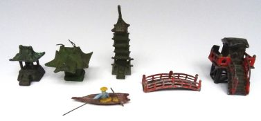 Possibly German miniature Japanese Buildings