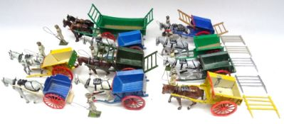 Britains, six Tumbrel Carts