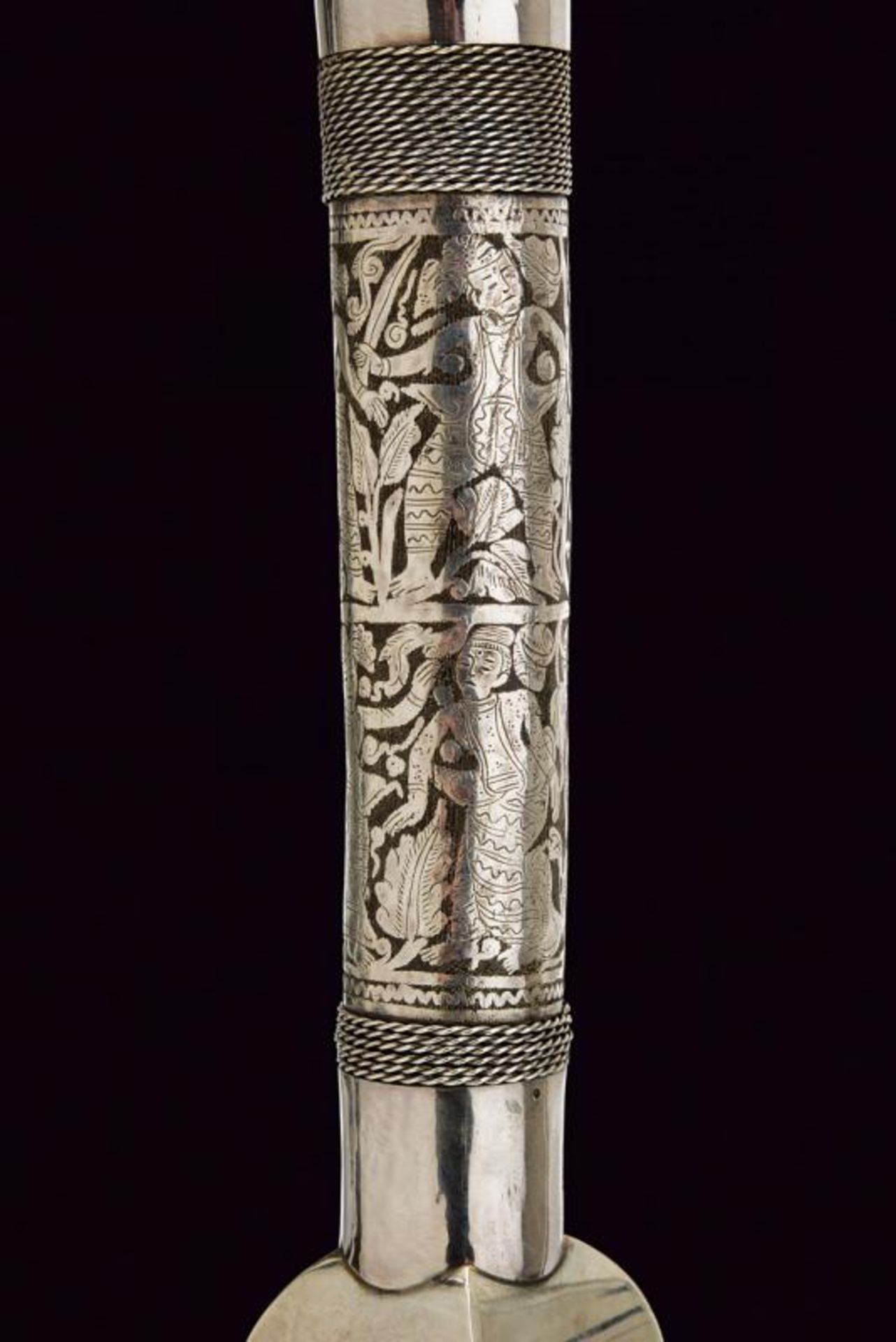 A beautiful silver mounted Dha - Bild 11 aus 13