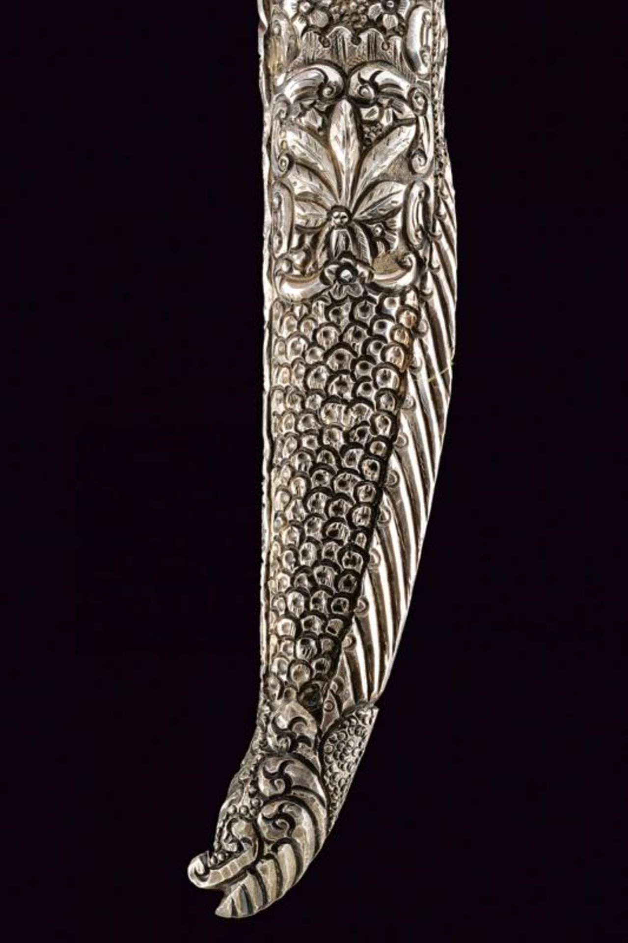 A very fine silver mounted knife - Bild 5 aus 9
