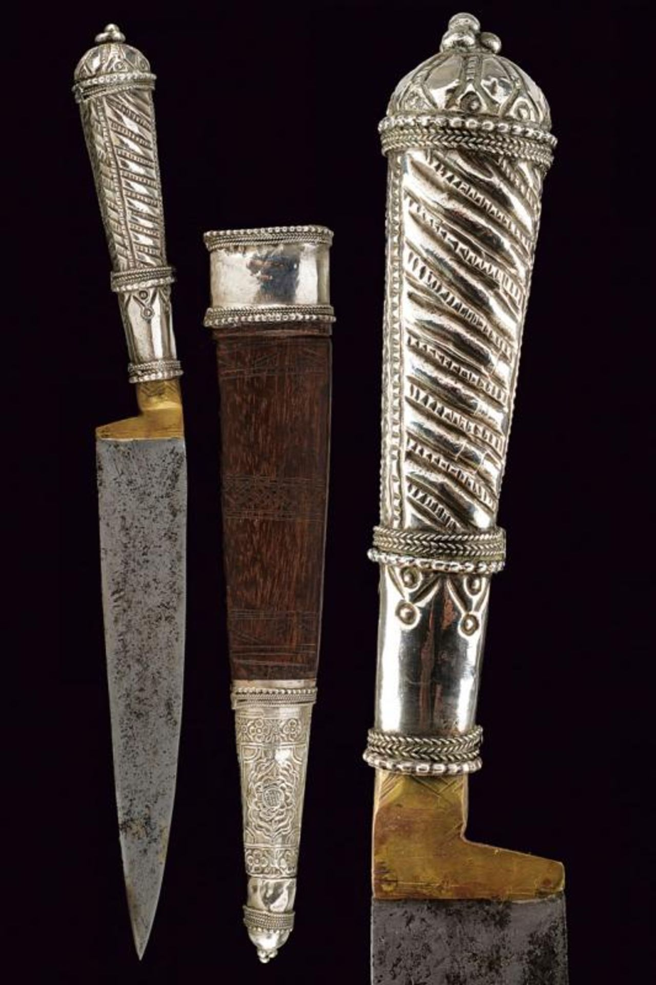 A silver mounted knife