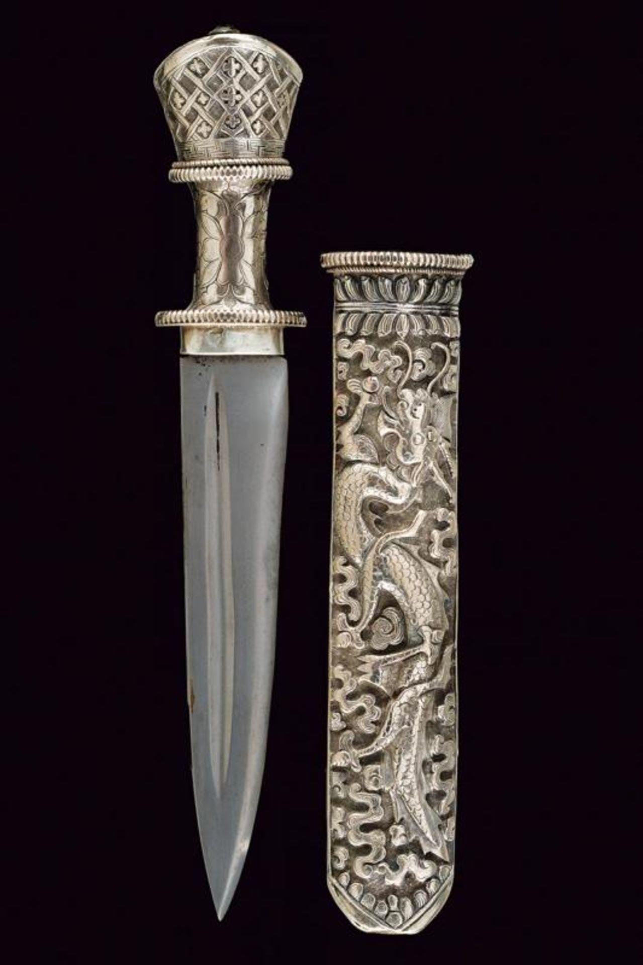 A beautiful silver mounted knife - Bild 6 aus 6