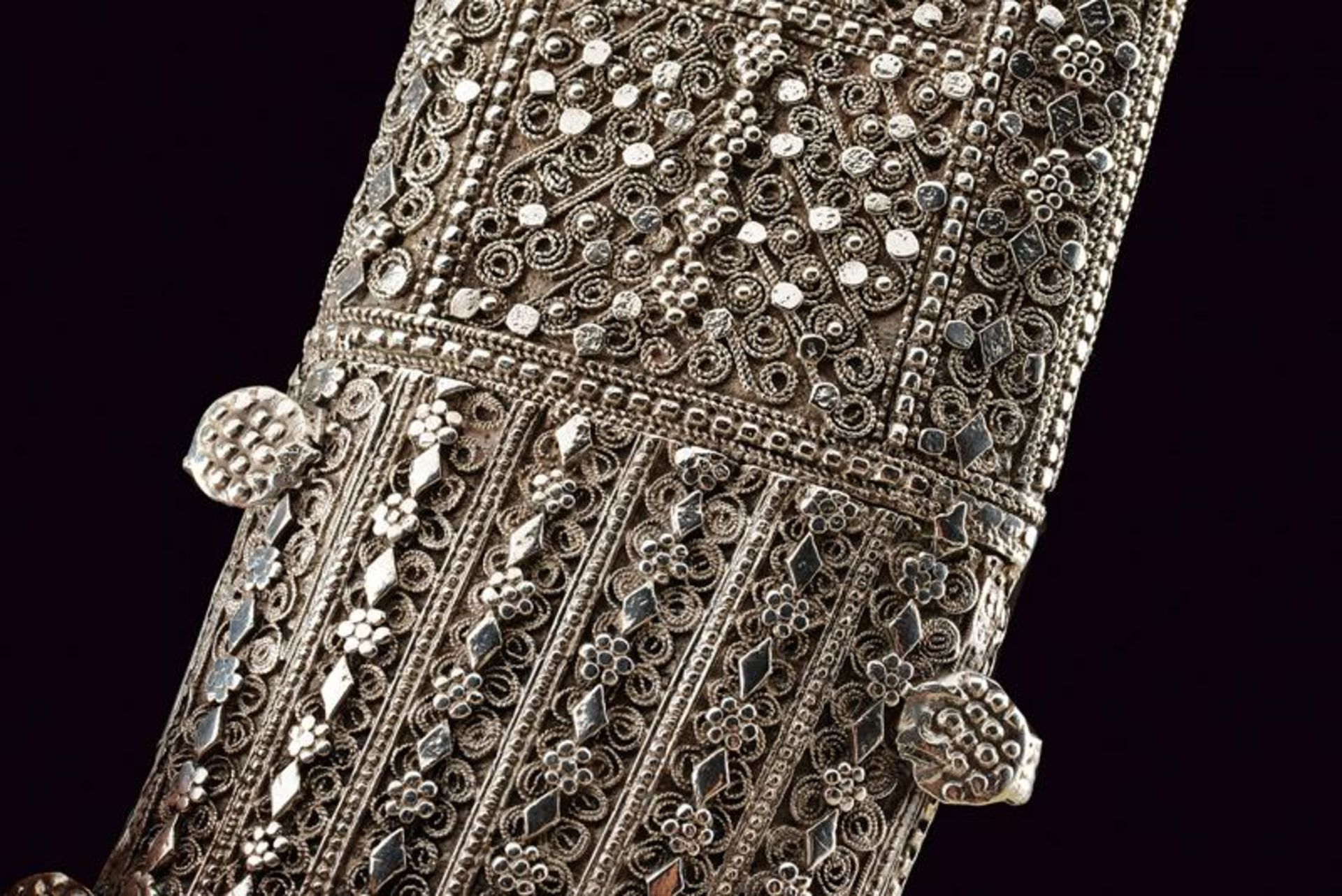 A silver mounted Jambiya - Bild 3 aus 8