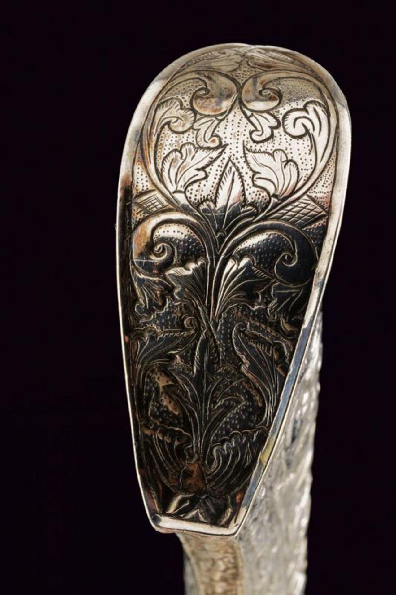 A silver mounted Badik - Bild 6 aus 7
