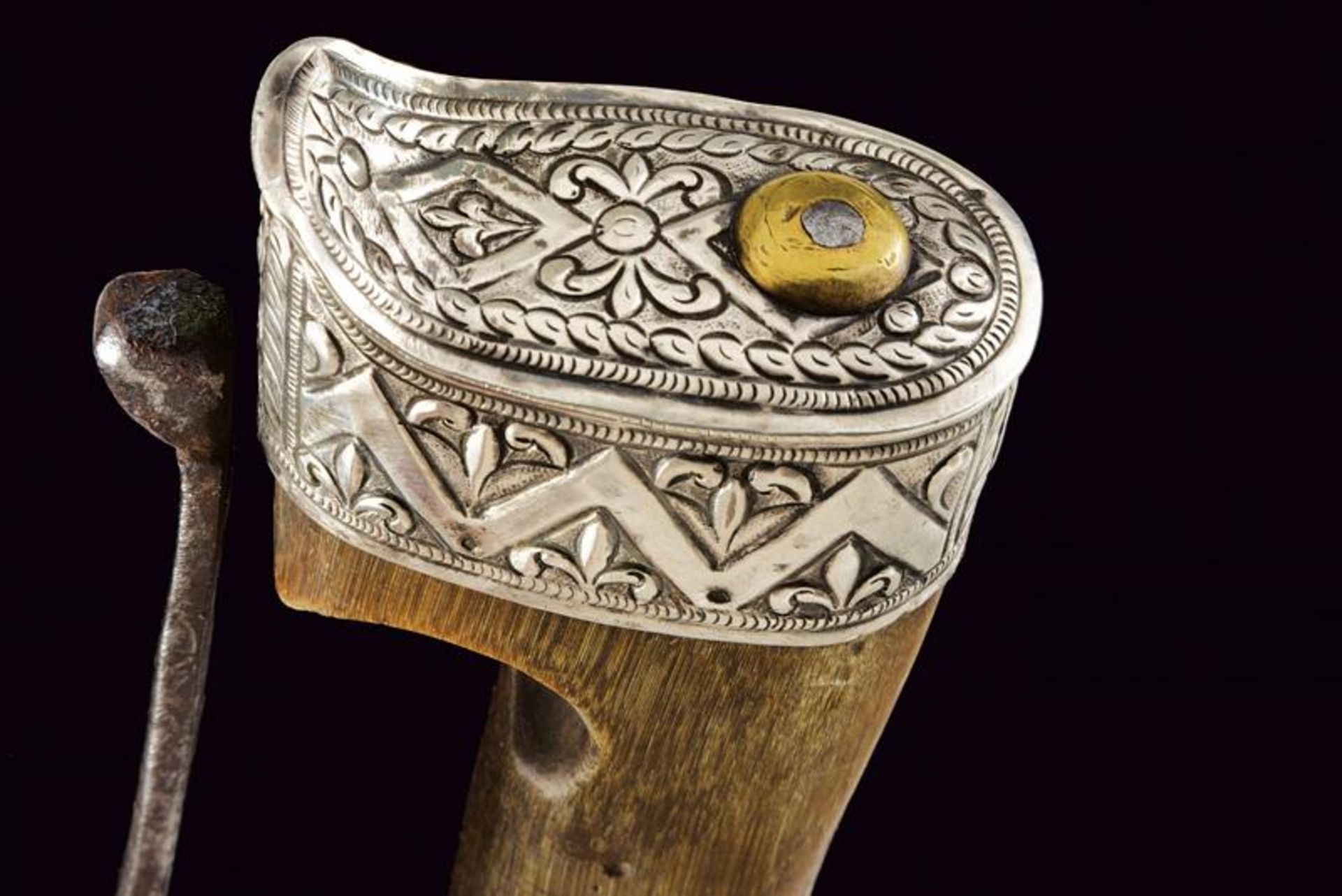 A silver mounted nimcha - Bild 7 aus 8