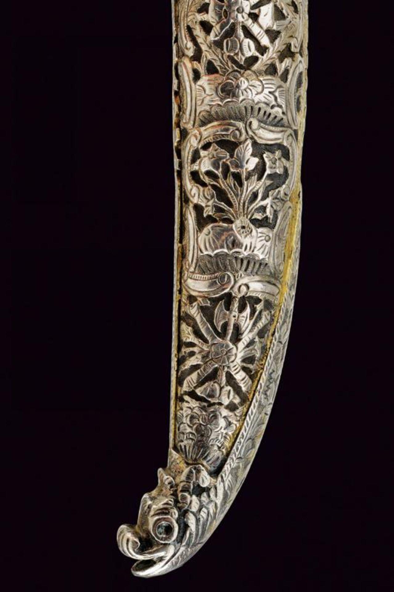 A rare silver mounted naval yatagan - Bild 10 aus 11