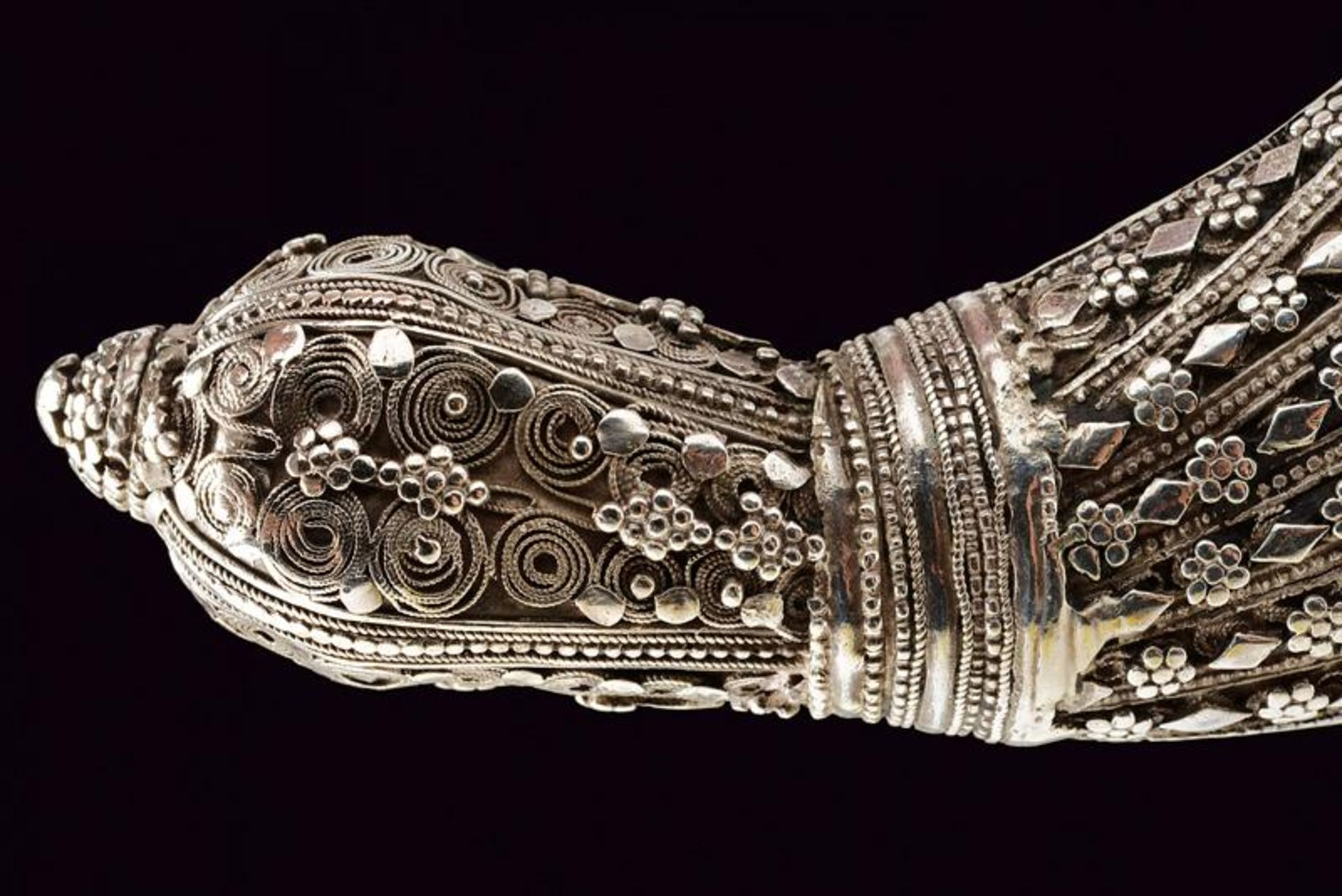 A silver mounted Jambiya - Bild 4 aus 8