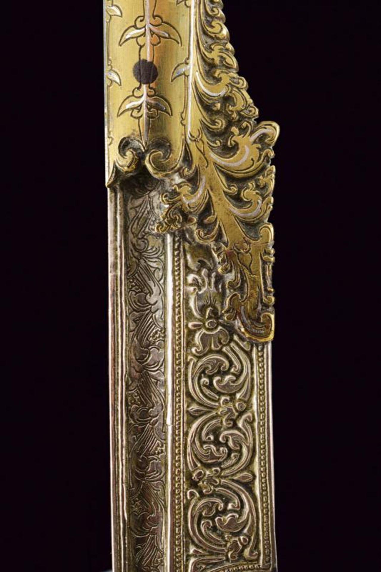 A fine silver and brass mounted Piha kaetta - Bild 2 aus 7