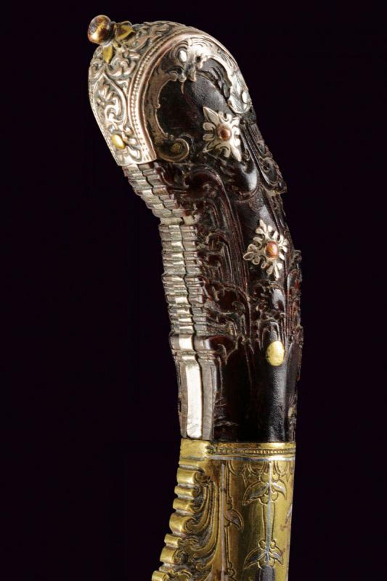 A fine silver and brass mounted Piha kaetta - Bild 4 aus 7