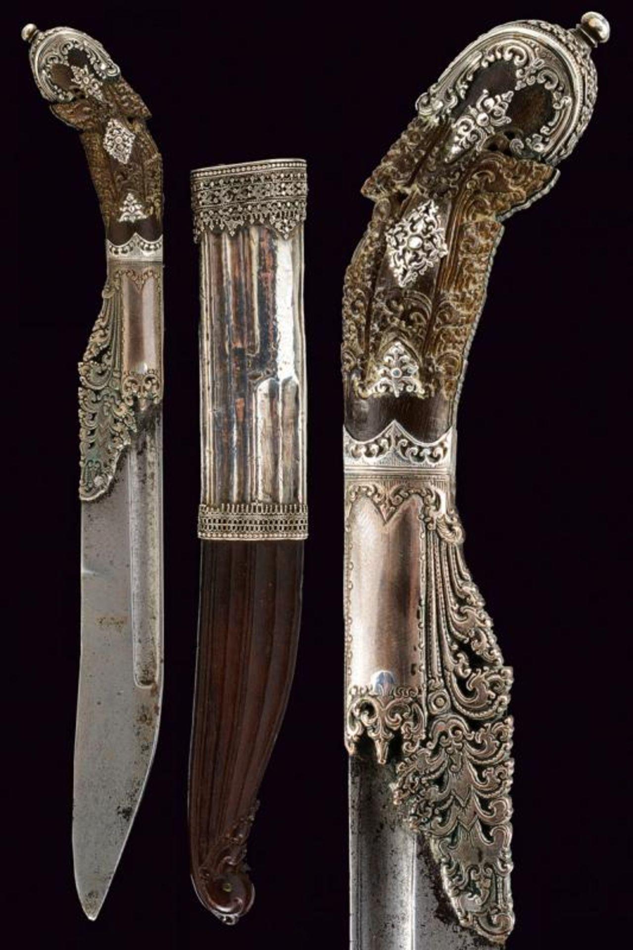 A beautiful silver mounted Piha-kaetta