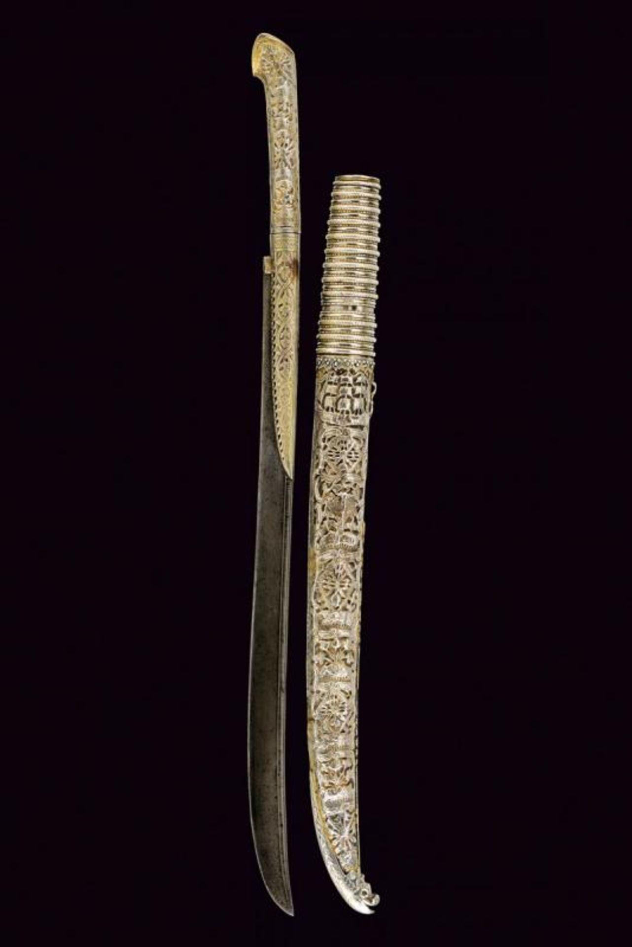 A rare silver mounted naval yatagan - Bild 11 aus 11