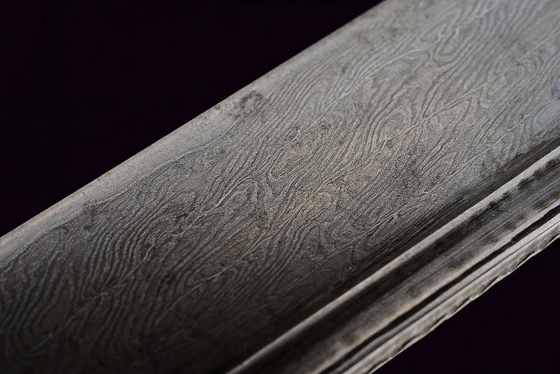 A rare silver mounted naval yatagan - Bild 7 aus 11