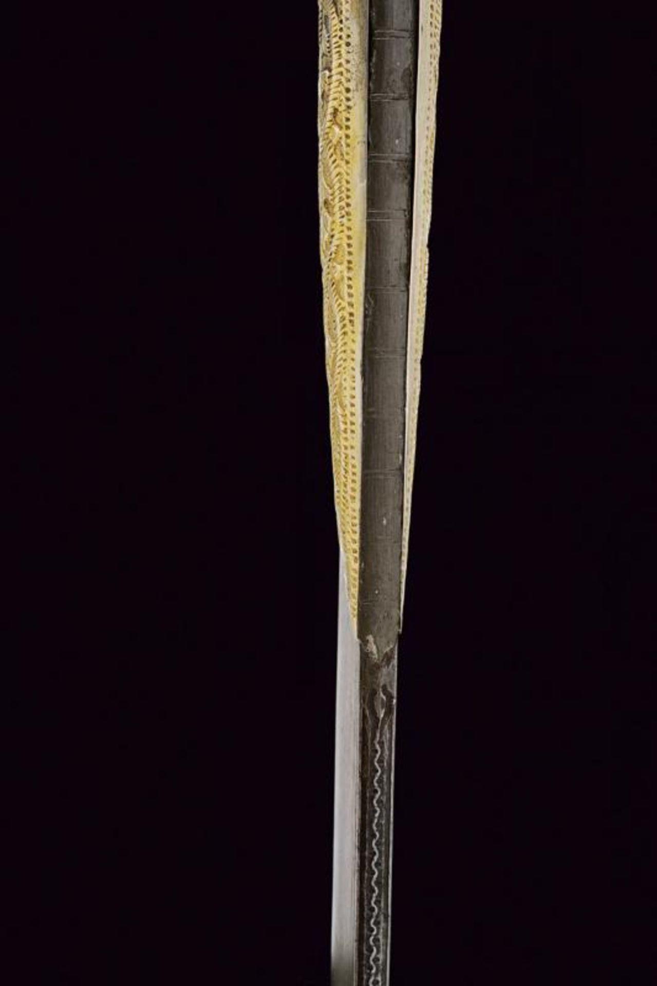 A rare silver mounted naval yatagan - Bild 6 aus 11