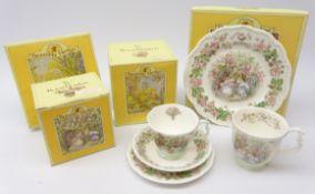 Royal Doulton Brambly Hedge Summer trio, tea plate and beaker,