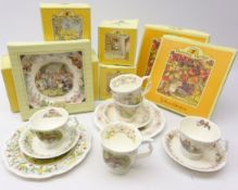 Royal Doulton Brambly Hedge The Engagement tea cup & saucer, plate and beaker,