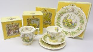 Royal Doulton Brambly Hedge Spring trio, tea plate and beaker,