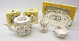 Royal Doulton Brambly Hedge Tea Service: Teapot, Tea Cream, Sugar Bowl and Regal Tray,