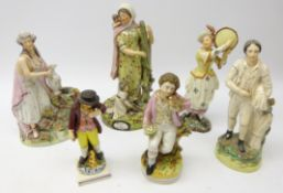 Early Staffordshire Pearlware group 'Widow & Orphans',