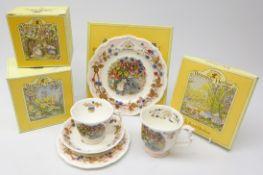 Royal Doulton Brambly Hedge Autumn trio, tea plate and beaker,