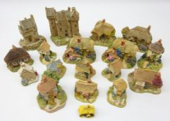 Seventeen Lilliput Lane Cottages comprising Claypotts Castle, The Rustlings, Tudor Merchant,