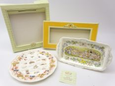 Royal Doulton Brambly Hedge 2004 Calendar plate and The Picnic sandwich tray,