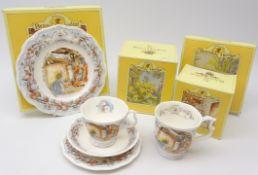 Royal Doulton Brambly Hedge Winter trio, tea plate and beaker,